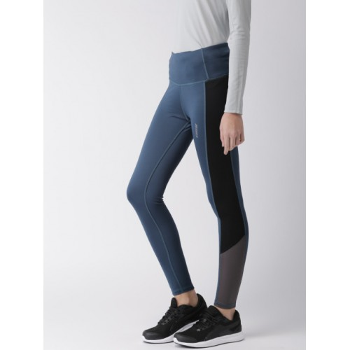 2GO Women Blue Solid GO-Dry Tights 2386993 VMYPKIO