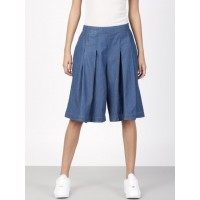 ether Women Indigo Flared Solid Culottes 1952806 EVPIBZA
