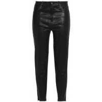 J Brand Cropped Leather Skinny Pants 2018 new style HMLGWDH