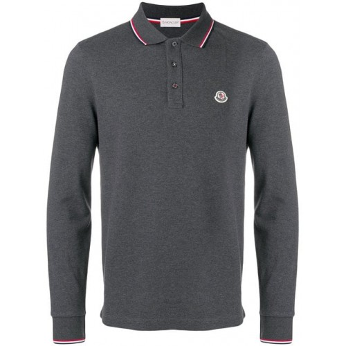 Moncler Long Sleeve Logo Polo Shirt - New Season 834800084556 PANIOTL