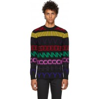 Black Multicolor Logo Sweater 182278M201006 PQBZDAP