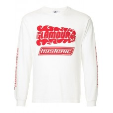 Hysteric Glamour Embroidered Sweatshirt - New Season 02181CL01 WWESRSB
