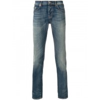 Dondup Faded Straight Leg Jeans - New Season  TYWVUBT