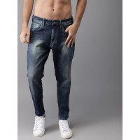 Moda Rapido Men Blue Tapered Fit Mid-Rise Ankle Length Clean Look Stretchable Jeans 5559300 PXBALOF