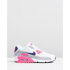 Air Max 90 - Women's White Court Purple Wolf Grey & Laser Pink NI126SH49TVU KUYVWZV