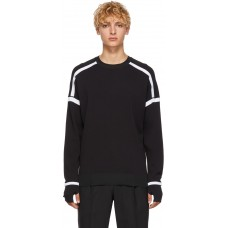 Black & White Technical Sweatshirt 182958M213005 ZLWTGAJ