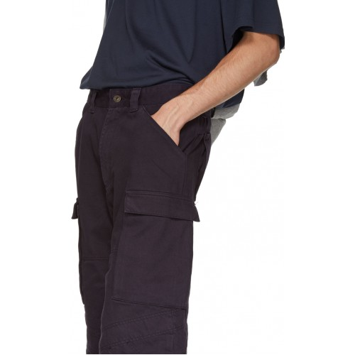 Navy Multi-Cuff Trousers 182893M188001 FDQEHLV