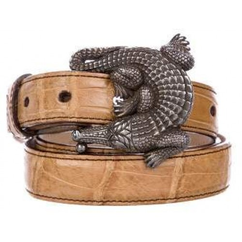 Kieselstein-Cord Sterling Silver Alligator Belt 2018 new style TJHXCBB