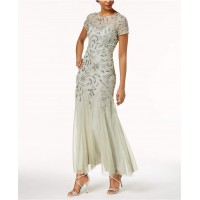Adrianna Papell Floral-Beaded Gown 2018 new style KILFWYY