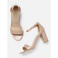 Mast & Harbour Women Nude-Coloured Solid Sandals 2178599 DMVPICI