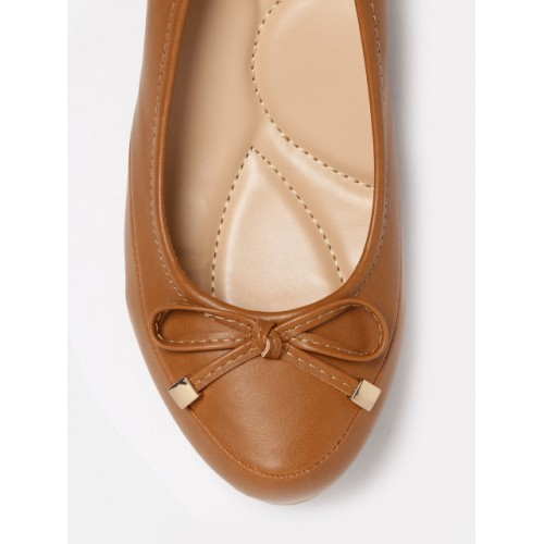 Mast & Harbour Women Tan Solid Wedges 2172317 FSELWYE