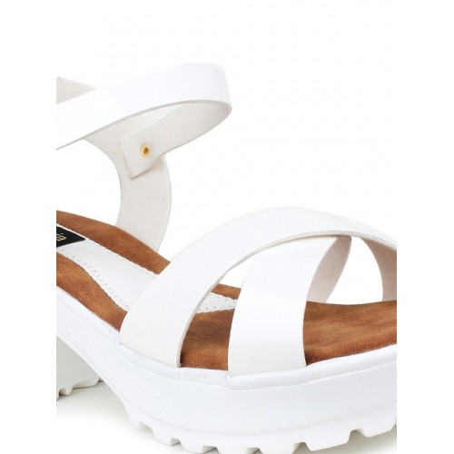 Shoetopia Women White Platforms 1796919 NWPOBPF