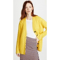 Marc Jacobs Cable Cardigan Yellow MJADB32296 TYGCQNK