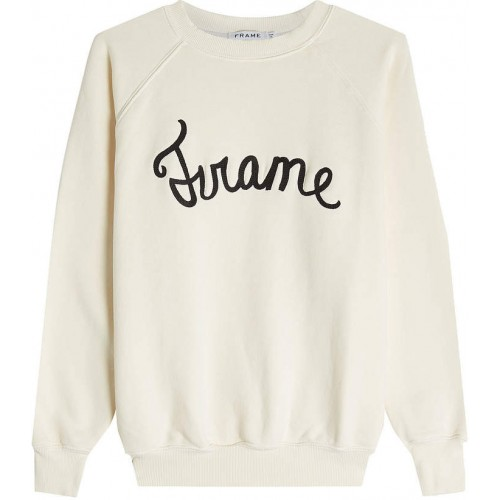 Frame Embroidered Cotton Sweatshirt 2018 new style LNTBNDL