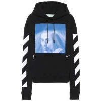 Off-White Bernini printed cotton hoodie 2018 new style SWCDXIY