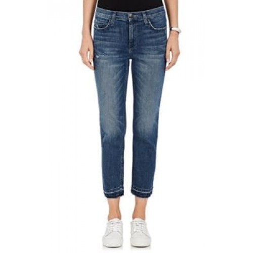 Current/Elliott The High Waist Cropped Straight Jeans WDSSVEM